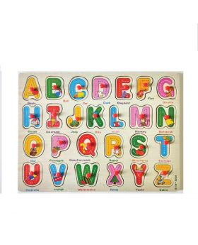 Wooden Elephant Puzzle Toy with A-Z English Alphabet and Numbers Puzzle