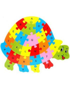 Wooden   Tortoise  Puzzles English Alphabet Jigsaw for kids