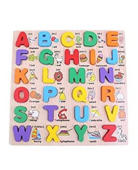 Wooden Alphabet English Letters Jigsaw Puzzle for Kids