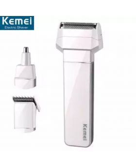 Kemei KM-3004A 3 in 1 Rechargeable Electric Shaver Reciprocating Shaver Nose Hair Trimmer Hair Clipper Combination For Men Care