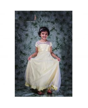 Girls yellow color party gown