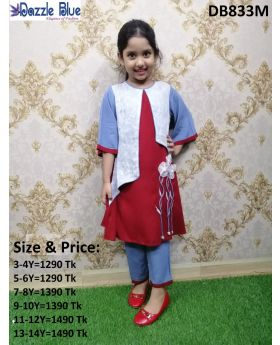 Girls New Marun Colur 2 Pcs Set