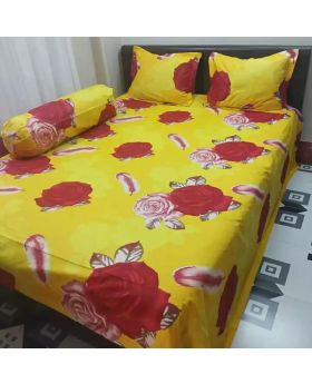 Double Size Cotton Bed Sheet Multicolor 2 Pillow Covers