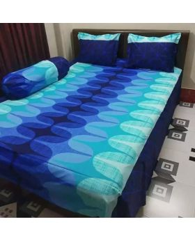 Double Size Cotton Bed Sheet ( Matching Pillow Covers with 2 pcs)