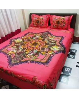 Double Size Cotton Bed Sheet (Matching 2pcs Covers )