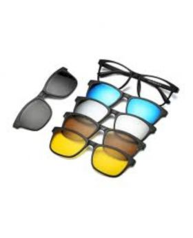 6 in 1 Magnetic Clip Polarized UV Protection Sunglasses