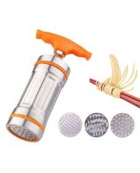 Stainless Steel Hand Noddles and Semai Maker - Orange and Silver
