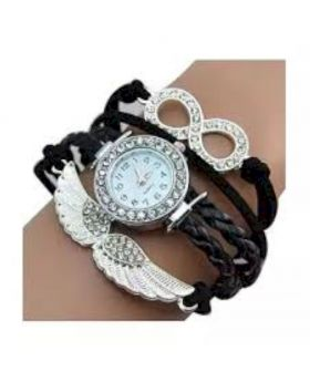 Black Bracelet Watch for Women