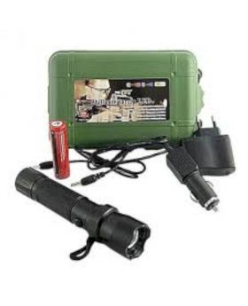 Brightest LED Rechargeable Torch 800M - Black