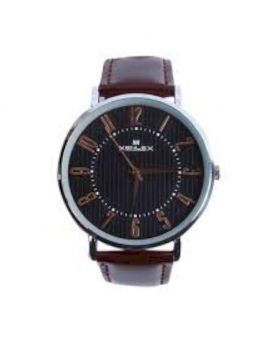 Chocolate Artificial Leather Analog Watch