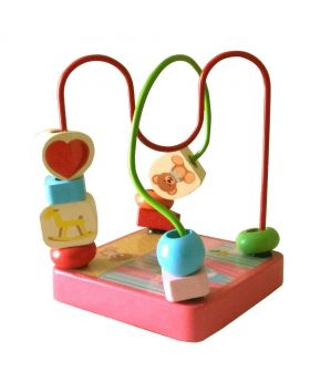 Wooden Beads Wire Toy - Multi-color