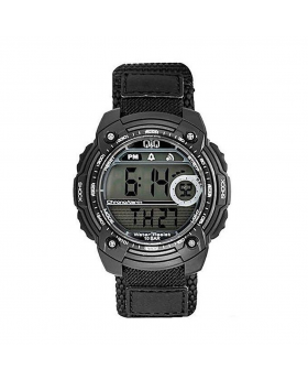 Black M075J003Y Velcro Digital Watch for Men