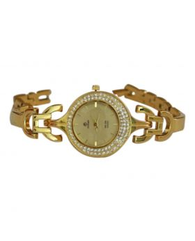 Titan EW0048 Stainless Steel Golden Colored Analog Womens Watch