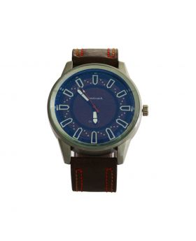 Fastrack EW0063 Stainless Still Leather Belt Analogue Watch For Men