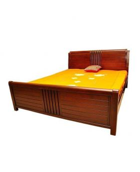 BD-16 - Oak Wood Bed - Brown