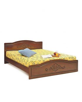 Canadian Oak Veneer Wood color Bed - Lacquer Polish