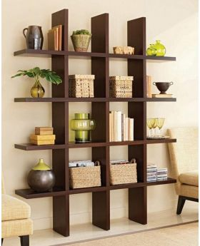 Malaysian Processed Wood Wall Hanging Shelf - Chocolate