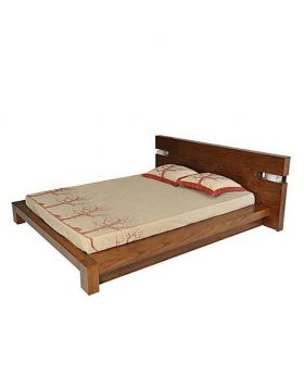 Canadian Wood Color Oak Veneer Wood Bed - Lacquer Polish
