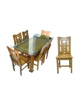 DI 159 - Malaysian Process Wood Dinning Set - Brown
