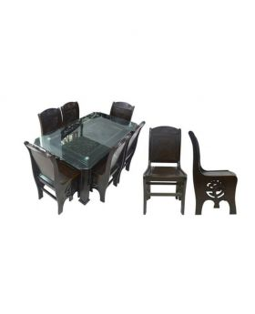 DI 158 - Malaysian Process Wood Dinning Set - Chocolate