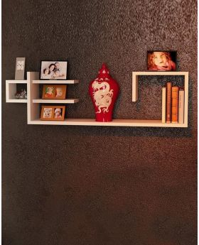Malaysian Processed Wood Wall Hanging Shelf - White