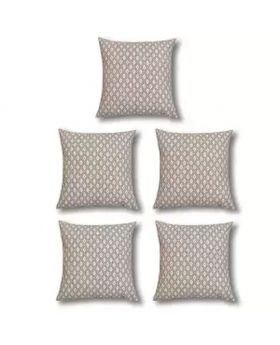 Five Pieces Cushion & Cover Set(Silver)