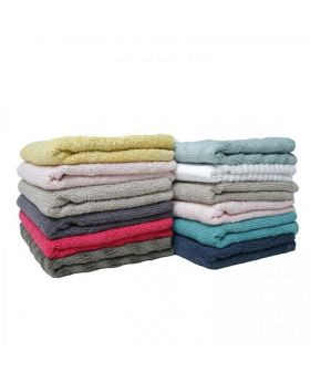 12 Pcs Face Towel-Assorted Color