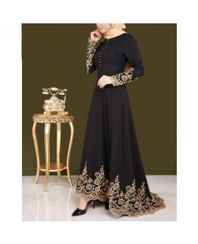 Fashionable Black Afghani Borka