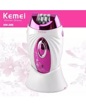 KM-205 (3 In 1) Multi Functional Hair Removal Epilator - White and Purple