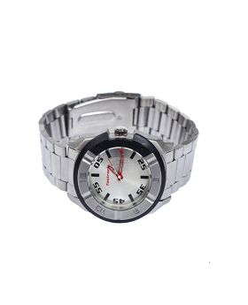 Fastrack FK06003-0020 Stainless Steel Leather Belt Analogue Watch For Men