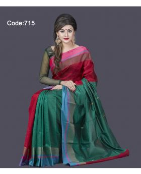 Half Silk Saree for Women 715 (Mix-Colour 715)