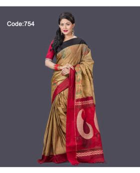 Maslice Cotton Saree for Women 754(Mix-Colour754)