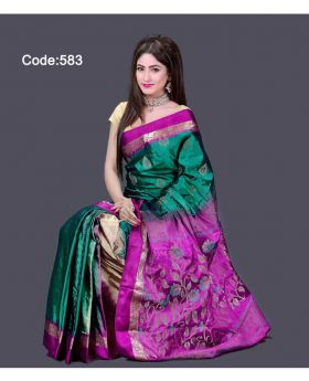 Soft Silk Saree for Women (Multi-Colour)