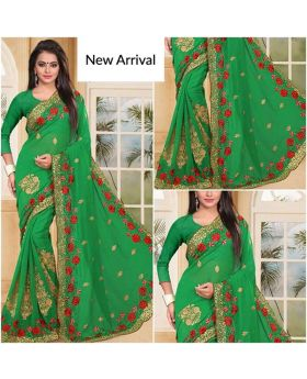 Gorgeous designer Georgette saree