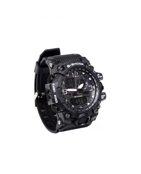 G-SHOCK Stainless Steel Rubber Belt Analogue Watch For Men- GS08504-0036