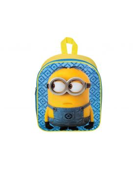 Minions Backpack with 3D print - 32.5x 26 x 10 cm