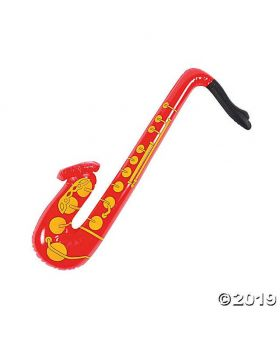 Plastic Toy Inflatable Saxophone - Red