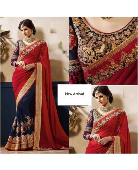 Gorgeous Indian Soft Weightless Georgette Saree1