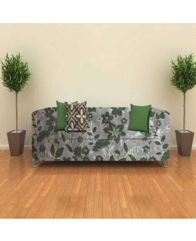 High quality Gray & Green Color Boutique Turkish Sofa Fabric-1 Yards
