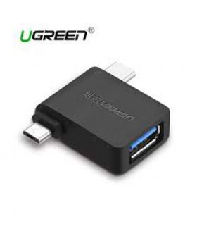 Ugreen 30453 Micro USB+ USB-C to USB 3.0 Adapter