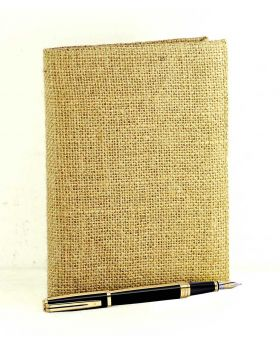 Diary with jute paper