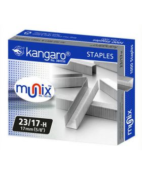 Kangaro Heavy Duty Stapler Pins, Size- 23/17 ( 1 box)