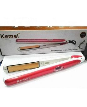 Kemei KM-2168 Professional Infrared Ceramic Hair Straightener 220 Degree Fast Heat Non-slip hair straightener for Home Travel