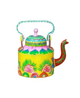 Hand Painted Metal Kettle Design No 2