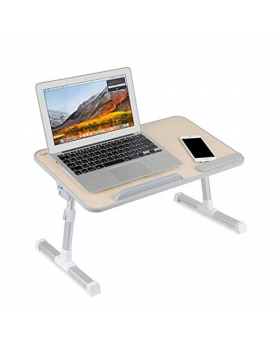 Laptop Table Stand with Cooling Fan - Black and White