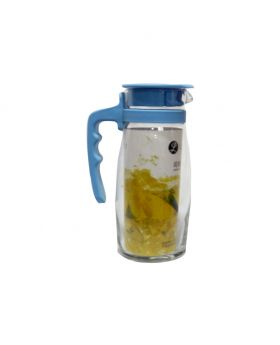 SQUARE SWING-STOPPER GLASS WATER BOTTLE 1 LITRE