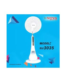 """NV-3061 (18"""") Remote AC/DC/ Charger Fan With LED 12 INCH"""