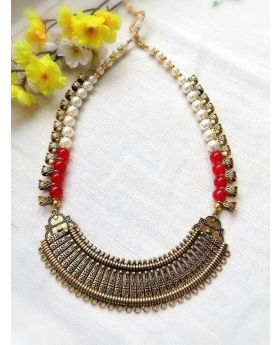 Red Necklace Gohona Set-N015