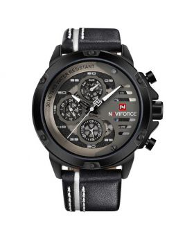 Naviforce NF9110 Men's Watch. Black & Red Color