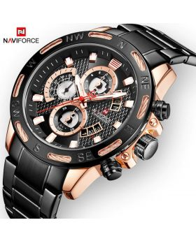 NAVIFORCE 9174-BB Luxury Style Stainless Steel Watch for Men
